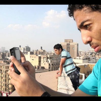 Filming from the top of a building