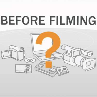 Before filming infographic