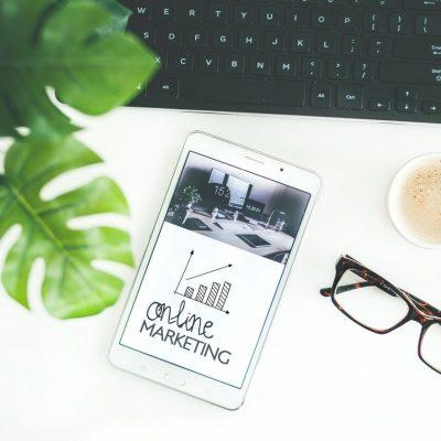 online marketing photo on desk