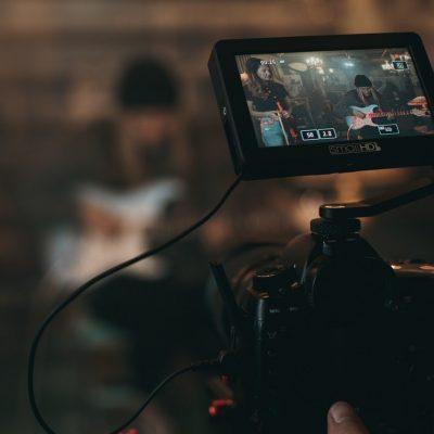 guitar music video camera